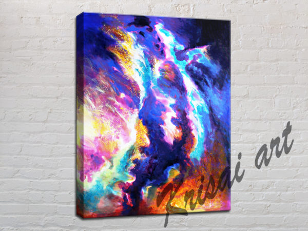 The flames abstract art