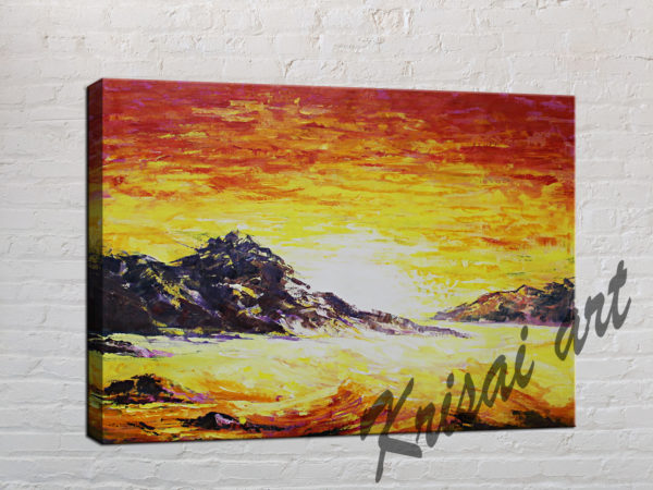 The Sunrise landscape painting modern abstract art